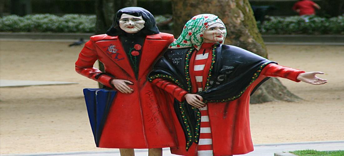 La famosa escultura de las Dos Marías